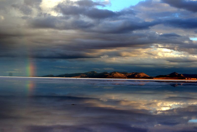 Travel Photo Roulette Sunrise Over the Salt Flats in Bolivia - Gotta Keep Movin